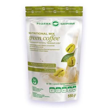 Натуральный питательный коктейль Зеленый кофе Родник Здоровья
