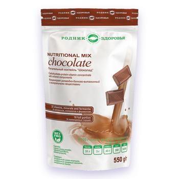 Натуральный питательный коктейль шоколад Родник Здоровья